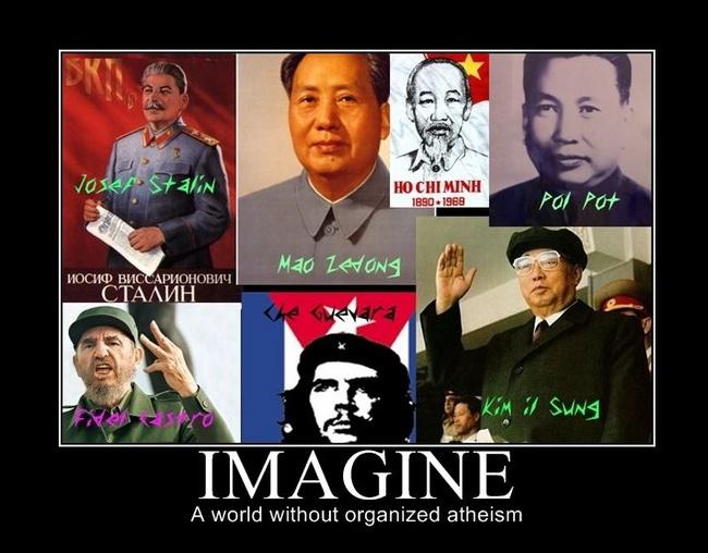 imagine no organized atheists